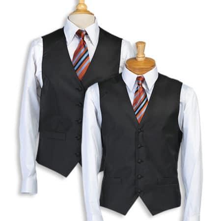Black Stripe Bistro Vest
