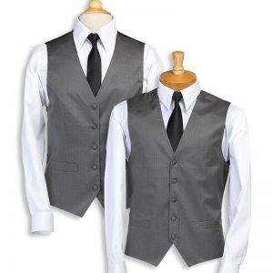 Charcoal Stripe Bistro Vest