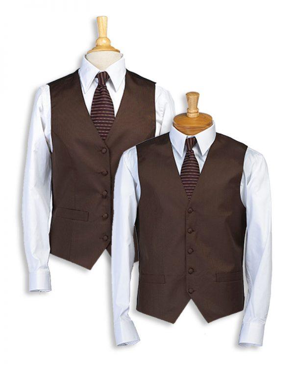 Chocolate Stripe Bistro Vest
