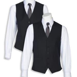 Tailored Graphite Silver Striped Vest