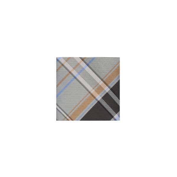 TartanPlaidTieSwatch Charcoal/SteelGrey