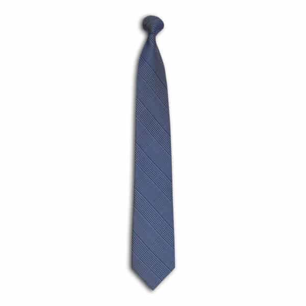 Houndstooth Plaid Tie-Navy
