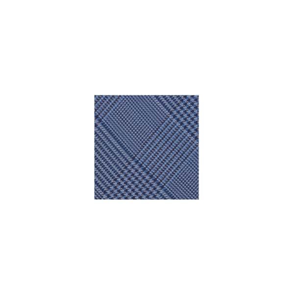 Houndstooth Plaid Tie Swatch-Navy