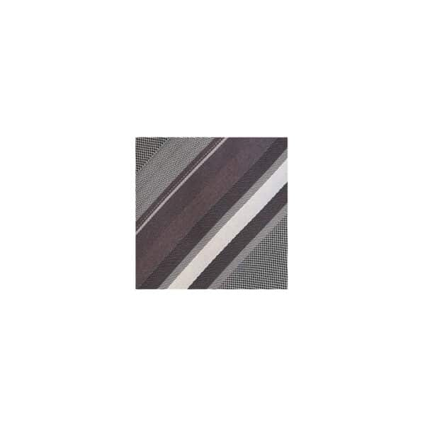 Ombre Stripe Tie Swatch-Charcoal