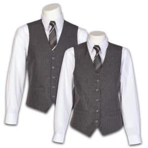 Men's & Women's Charcoal Heather Vest